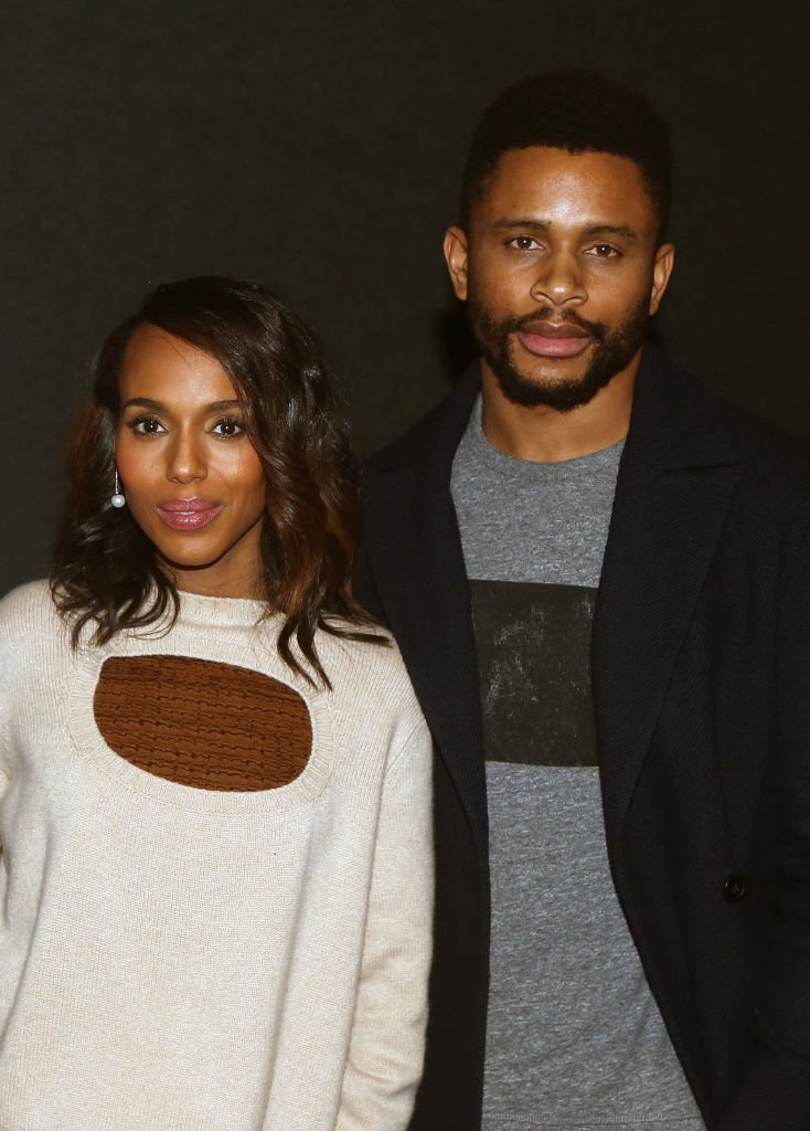 """Kerry Washington and husband Nnamdi Asomugha at a screening for Annapurna Pictures' """"If Beale Street Could Talk"""" on November 26, 2018 in New York City 