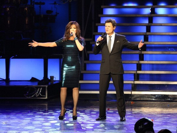 Marie Osmond and  Donny Osmond perform their 1,000th show at Flamingo Las Vegas | Photo: Getty Images