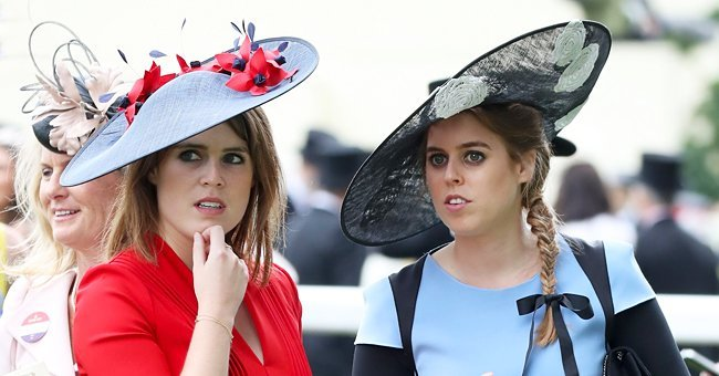 : Princess Eugenie of York (L) and Princess Beatrice of York are seen in the Parade Ring as she attends Royal Ascot 2017 at Ascot Racecourse on June 22, 2017 in Ascot, England | Photo: Getty Images