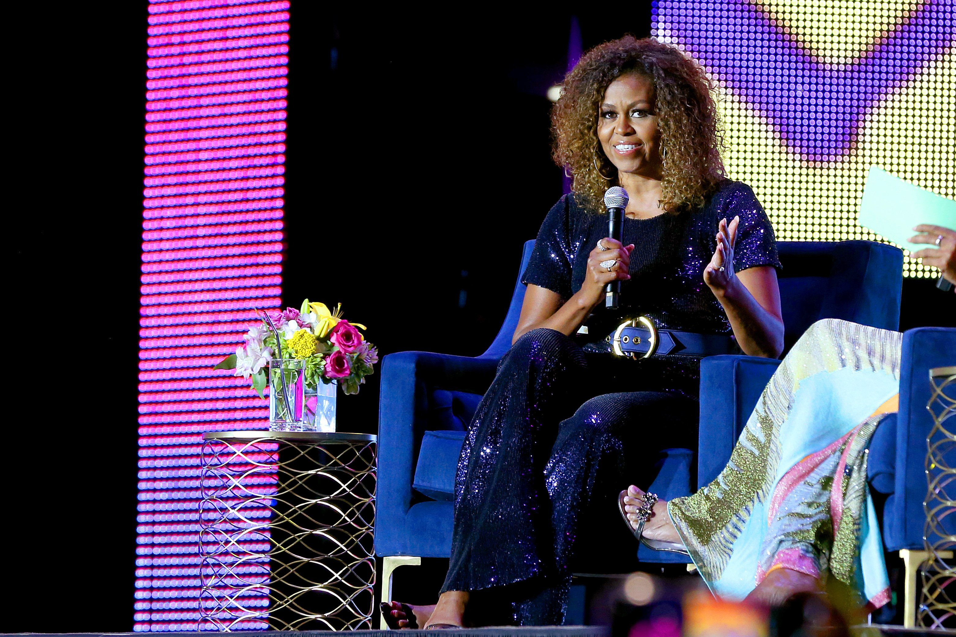 Michelle Obama at the 2019 ESSENCE Festival in New Orleans, Louisiana   Photo: Getty Images
