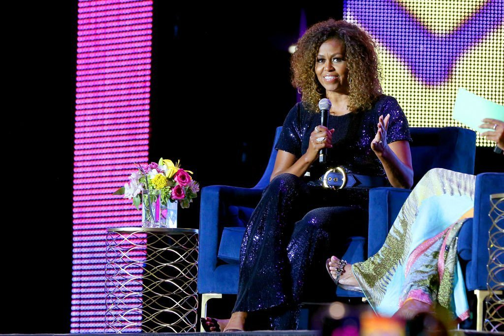 Michelle Obama speaks onstage during the 2019 ESSENCE Festival Presented By Coca-Cola at Louisiana Superdome | Photo: Getty Images