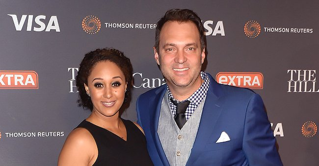 Tamera Mowry's Husband Adam Housley Teaches Son How to Work with Hammer and Fans Love It
