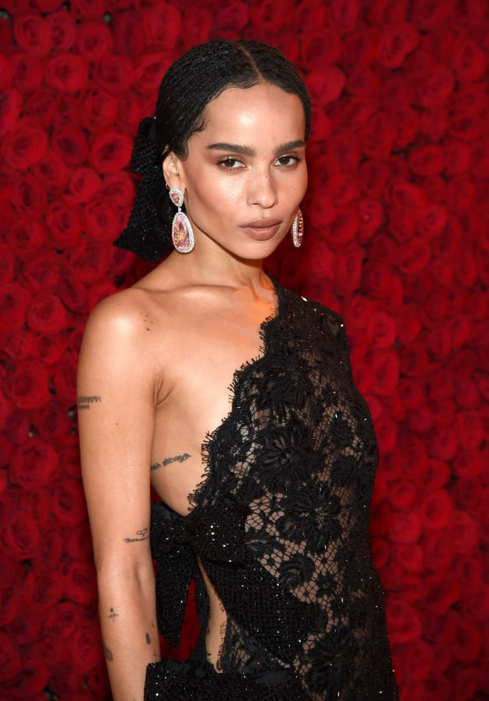 Zoe Kravitz attends the Heavenly Bodies: Fashion & The Catholic Imagination Costume Institute Gala at The Metropolitan Museum of Art on May 7, 2018 in New York City. | Source: Getty Images