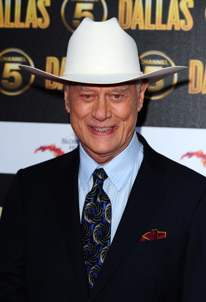 Larry Hagman arrives at the Channel 5 Dallas launch party at Old Billinsgate | Getty Images