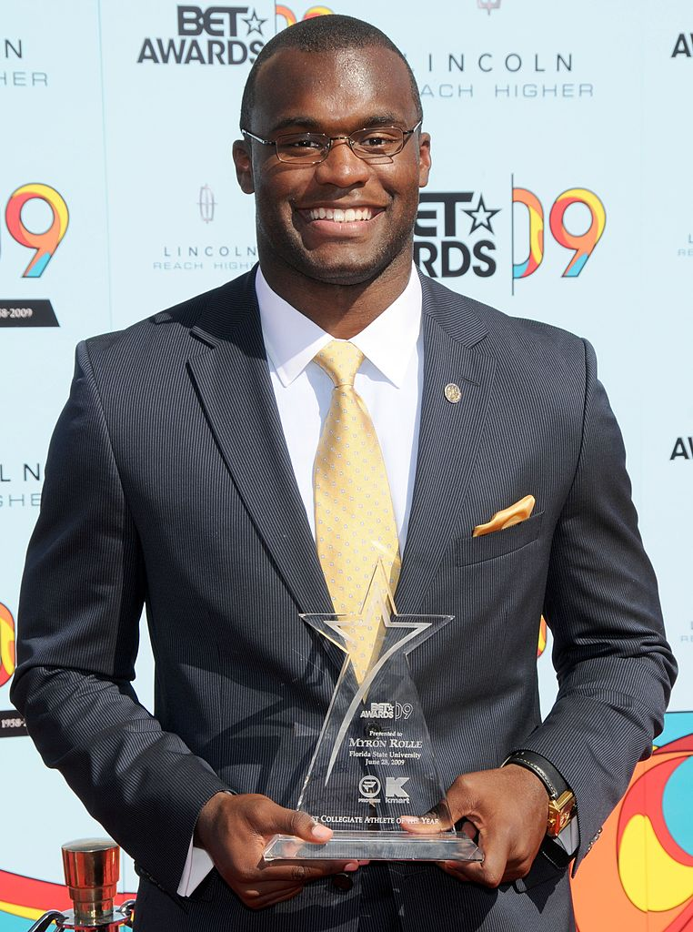 Myron Rolle arrives at the 2009 BET Awards held at the Shrine Auditorium in Los Angeles, California on June 28, 2009   Photo : Getty Images