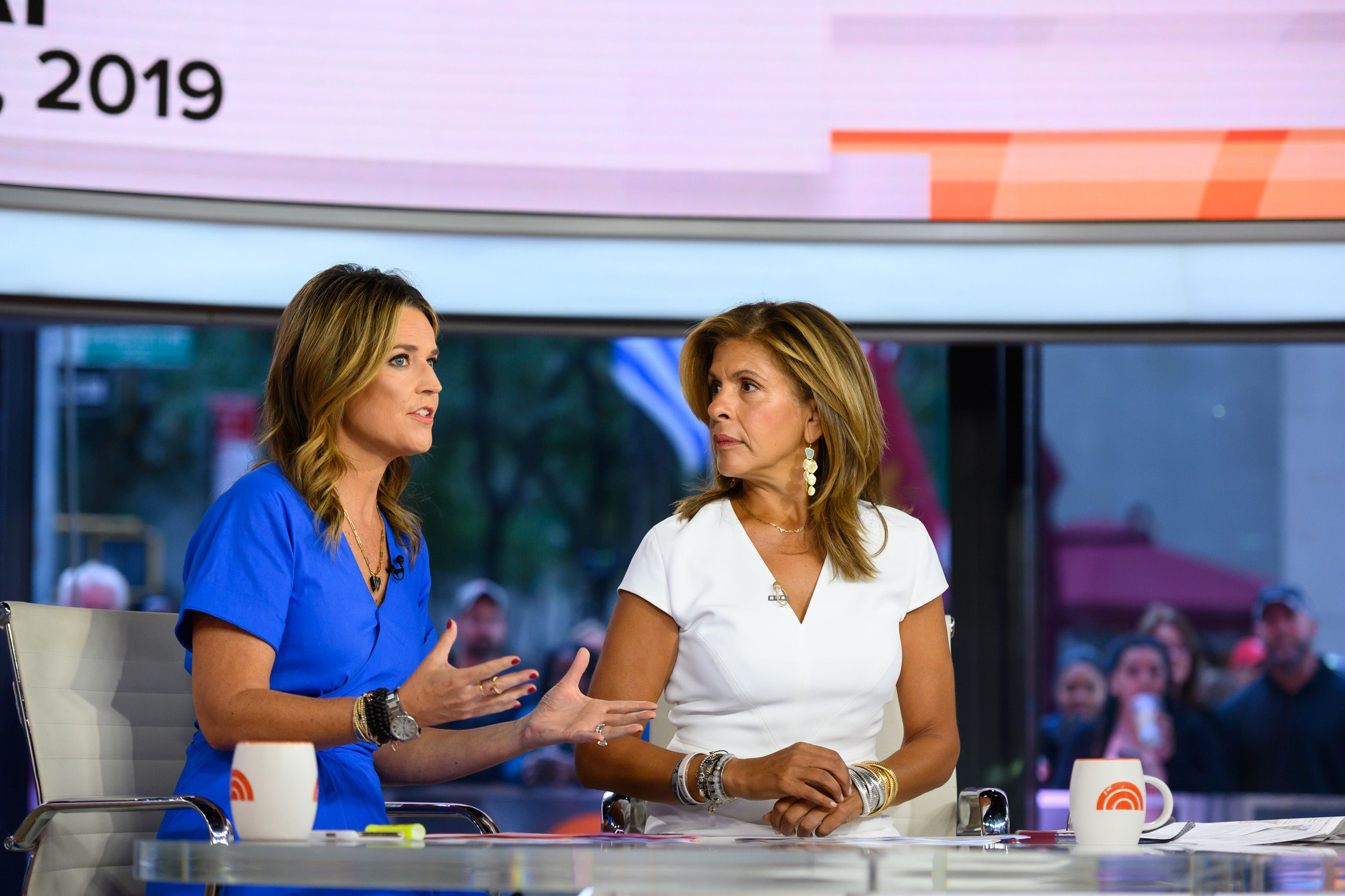 Savannah Guthrie and Hoda Kotb at Today - Season 68 TODAY on Monday, September 9, 2019 | Photo: Getty Images