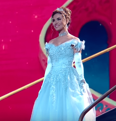 """Chrishell Stause during her """"Cinderella"""" themed performance on  """"Dancing With The Stars"""" 