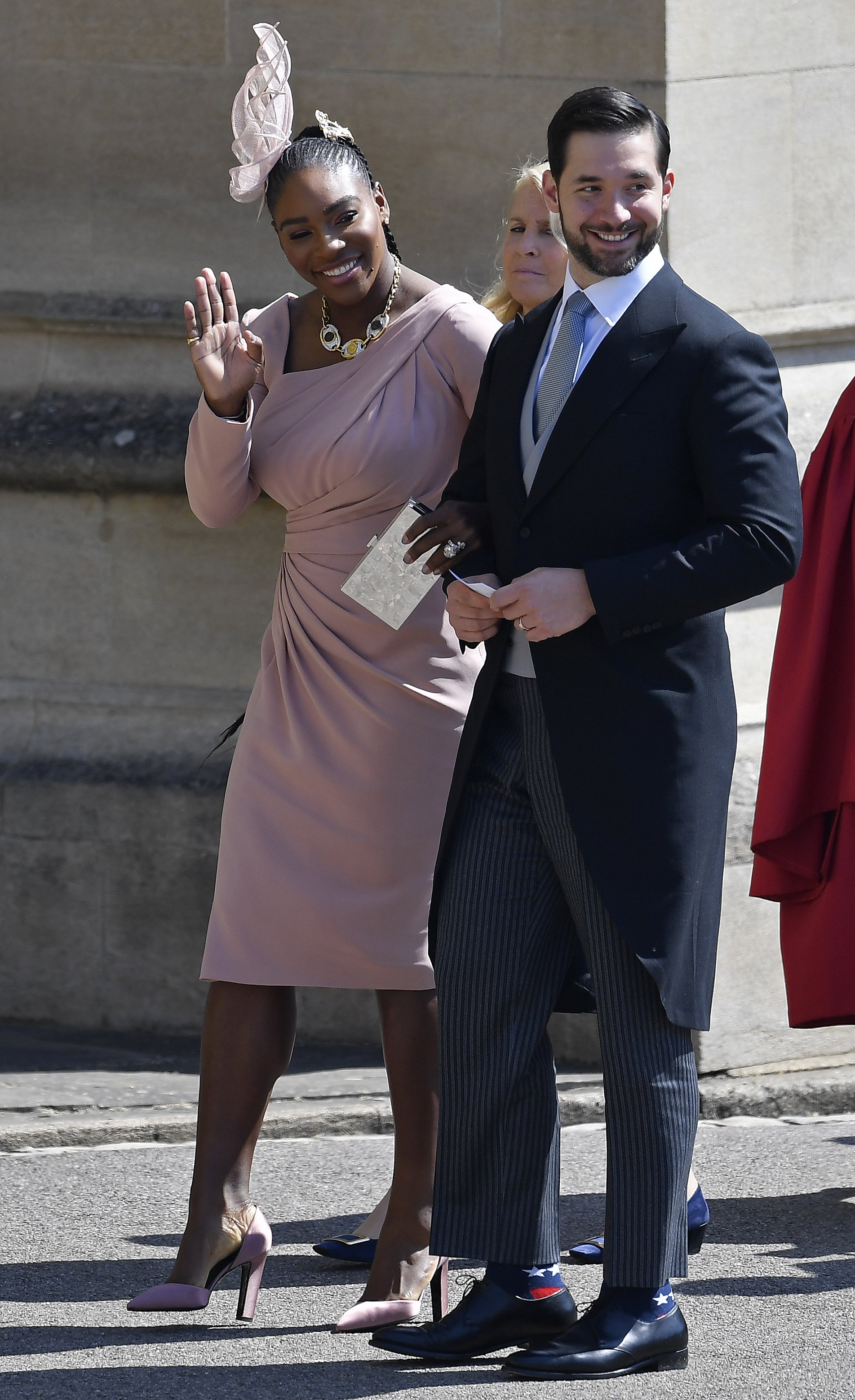 Serena Williams and Alexis Ohanian arrive at St George's Chapel at Windsor Castle before the wedding of Prince Harry to Meghan Markle on May 19, 2018. | Photo: GettyImages