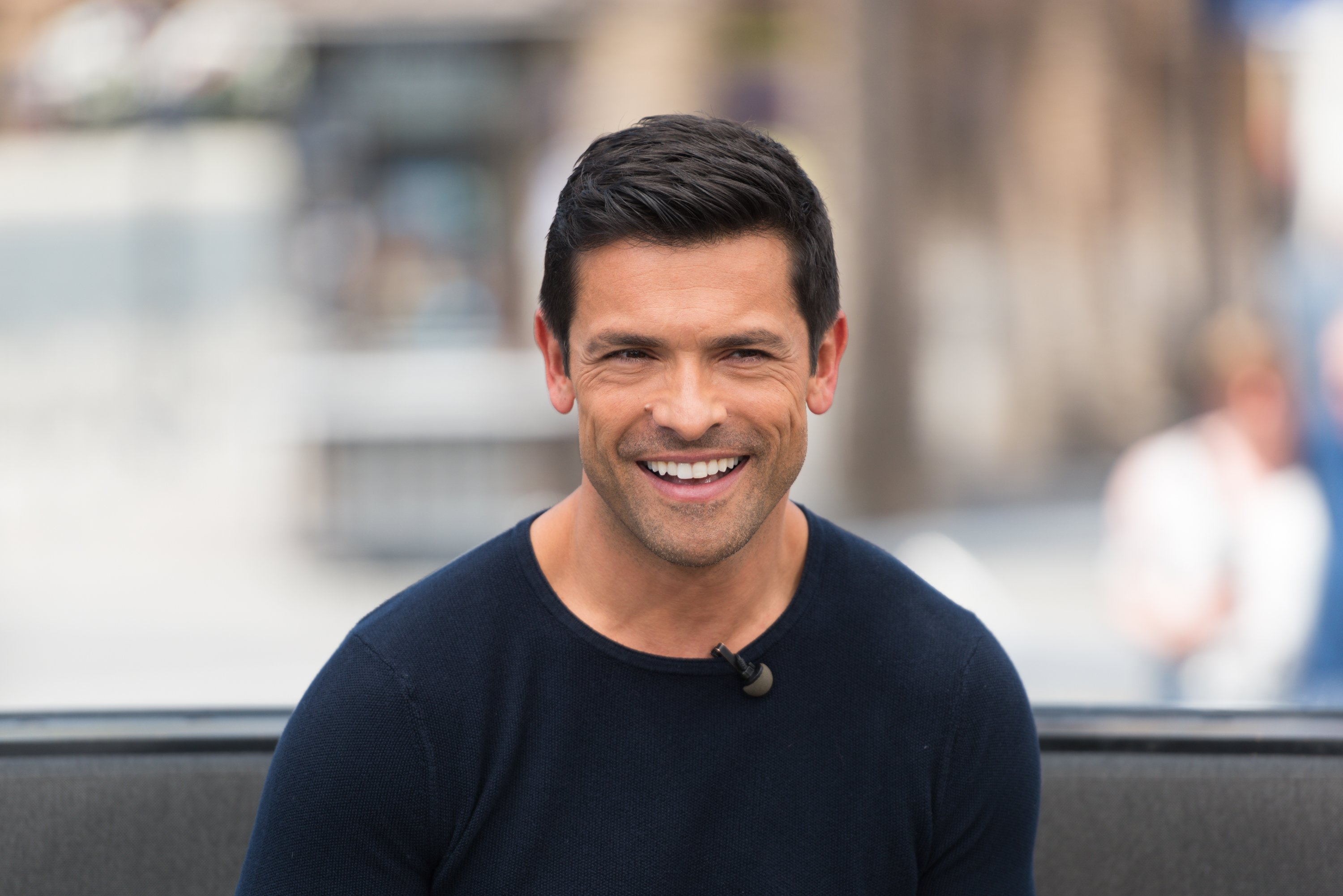 """Mark Consuelos visits """"Extra"""" at Universal Studios Hollywood on May 24, 2017, in Universal City, California. 