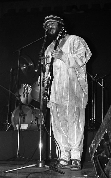 "Peter Green at the ""Hala Pionir"" venue in Belgrade, Yugoslavia (now Serbia) on May 30, 1983 