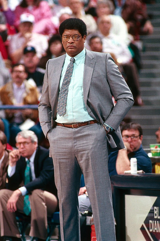 Wes Unseld as head coach of the Washington Bullets during a game in Sacramento in February 1989.   Photo: Getty Images