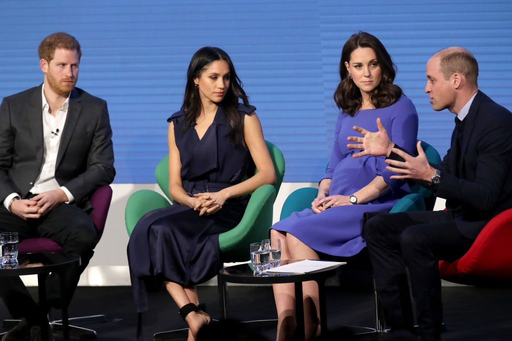 Prince Harry, Meghan Markle, Catherine, Duchess of Cambridge and Prince William, Duke of Cambridge attend the first annual Royal Foundation Forum held at Aviva on February 28, 2018. | Photo: Getty Images