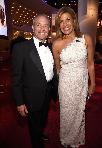 Joel Schiffman and Hoda Kotb at Lincoln Center on April 24, 2018 in New York City. | Photo: Getty Images