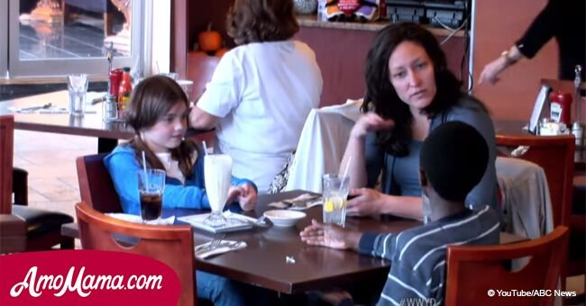 Mom doesn't buy her foster son food, eats with her 'real daughter' while he cries