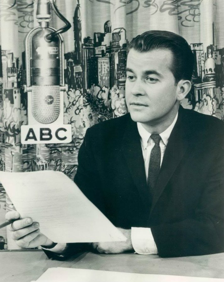 "Clark in 1963 for his ABC radio show ""Dick Clark Reports"" 