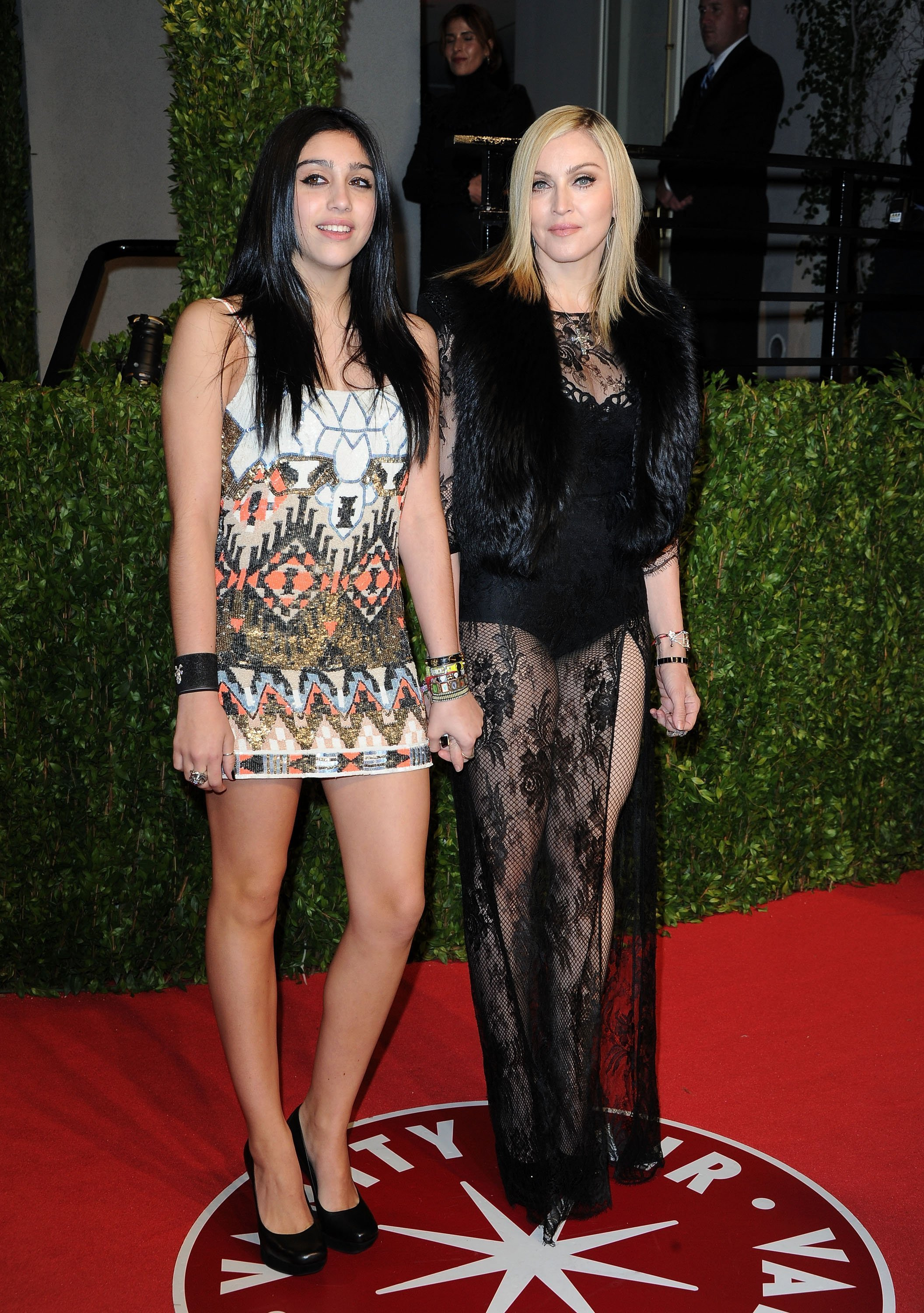 Lourdes Leon (L) and Madonna arrive at the Vanity Fair Oscar party hosted by Graydon Carter held at Sunset Tower on February 27, 2011, in West Hollywood, California. | Photo: Getty Images.