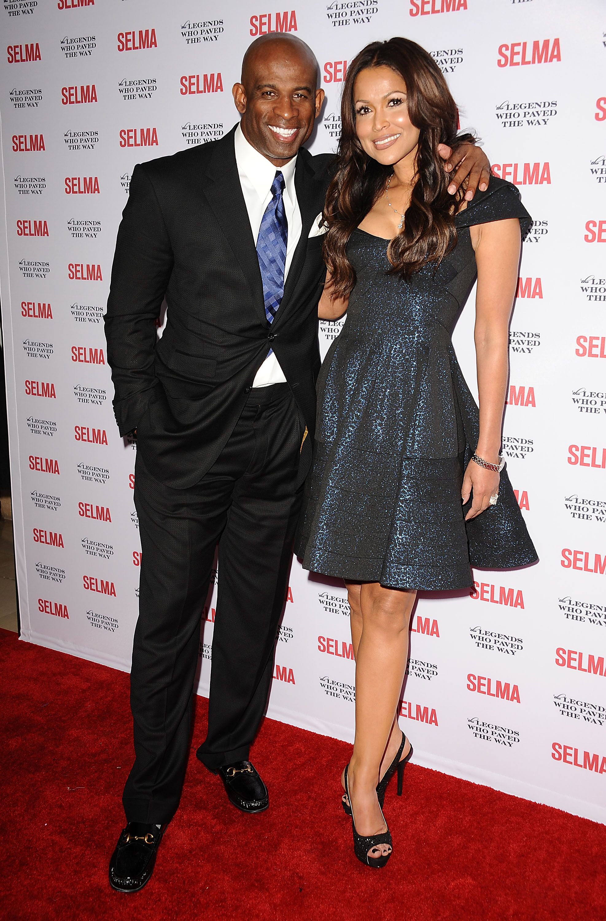 "Deion Sanders and Tracey Edmonds attend the ""Selma"" and the Legends Who Paved the Way gala at Bacara Resort on December 6, 2014 in Goleta, California. 