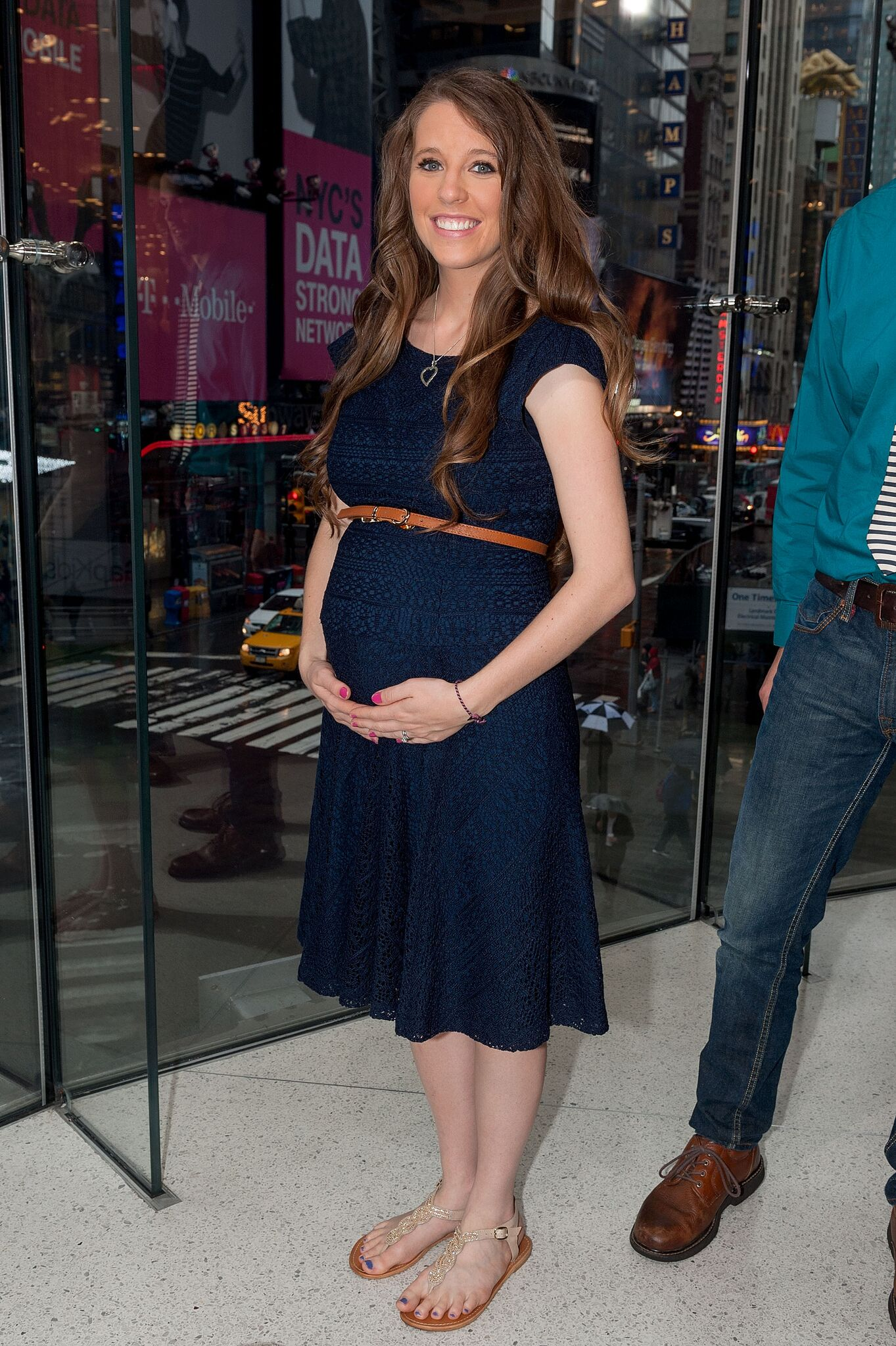 """Jill Duggar Dillard visits """"Extra"""" at their New York studios at H&M in Times Square on October 23, 2014 