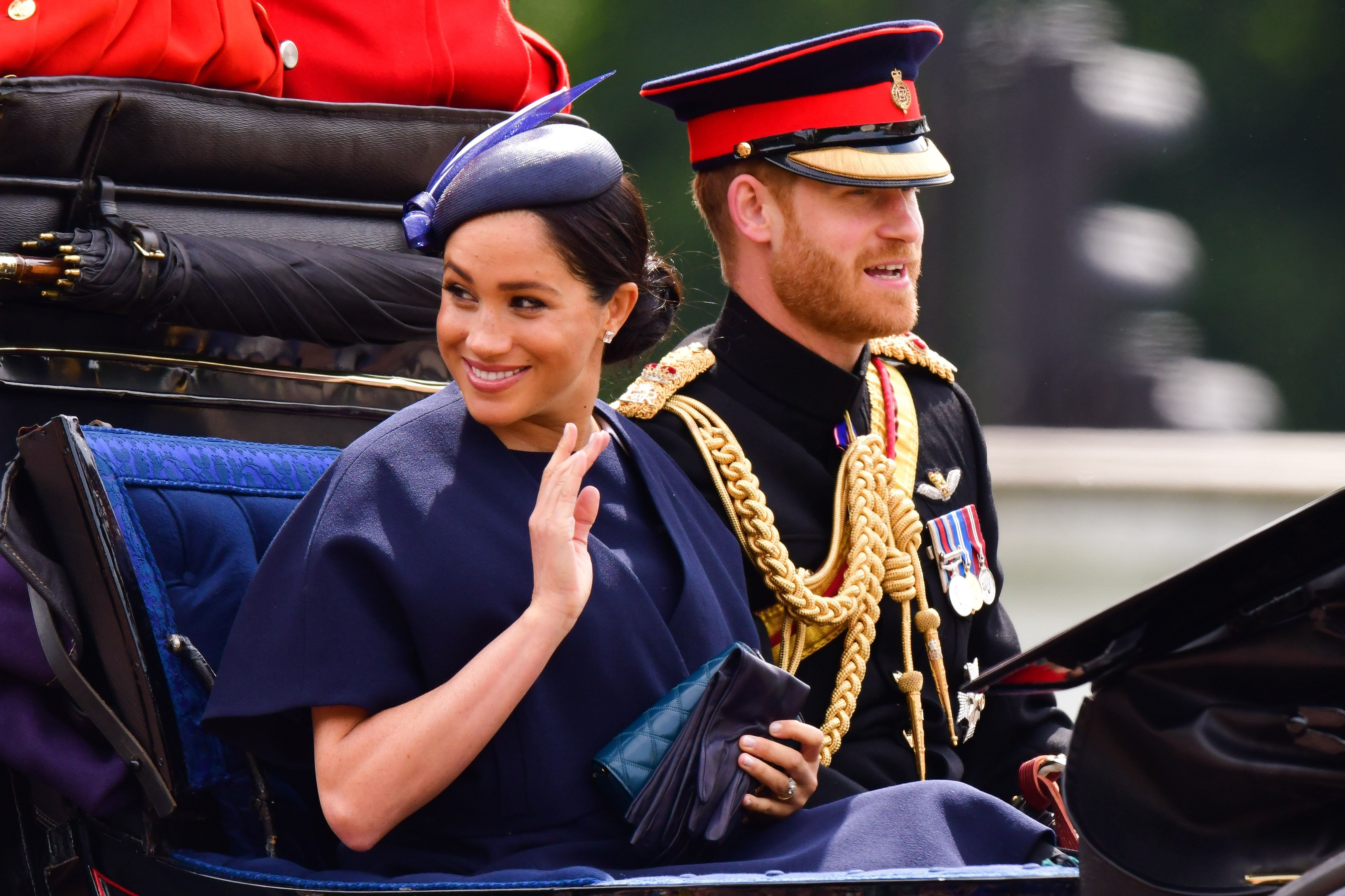 Prince Harry and Meghan Markle attend Trooping the Color in June 2019 | Photo: Getty Images