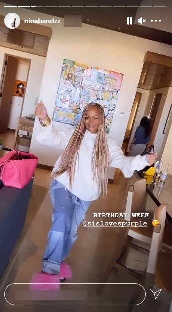 LL Cool J's wife, Simone Smith, posing for a picture during their family getaway for her daughter, Nina Symone's, birthday | Photo:Instagram/ninabandzz