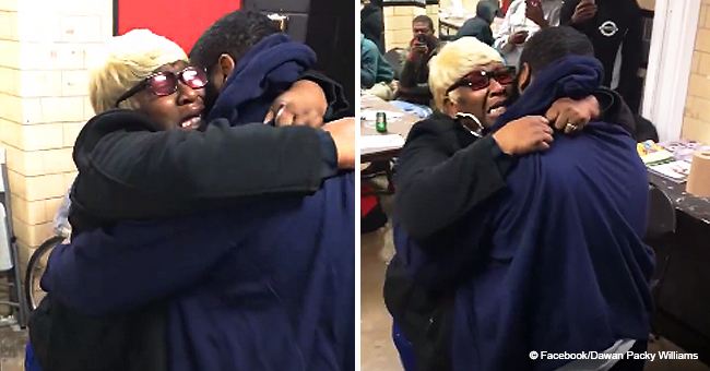 'OMG, OMG, OMG!' Mom Hysterical as Son Surprises Her after Being Released from Jail (Video)