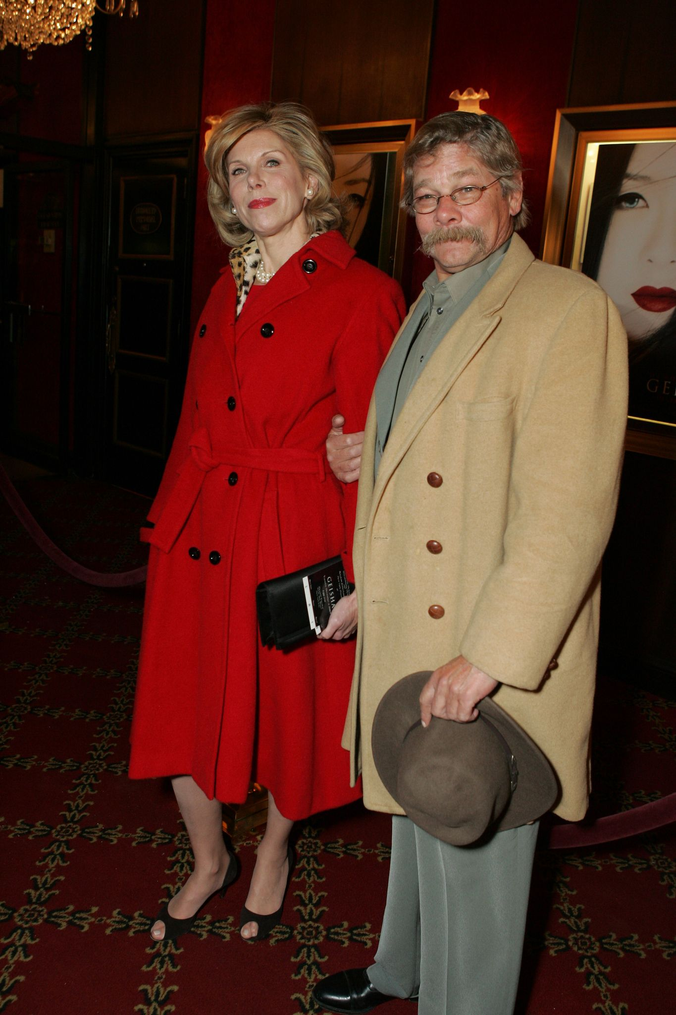 """Christine Baranski and Matthew Cowles at the premiere of """"Memoirs of a Geisha"""" in 2005 in New York 