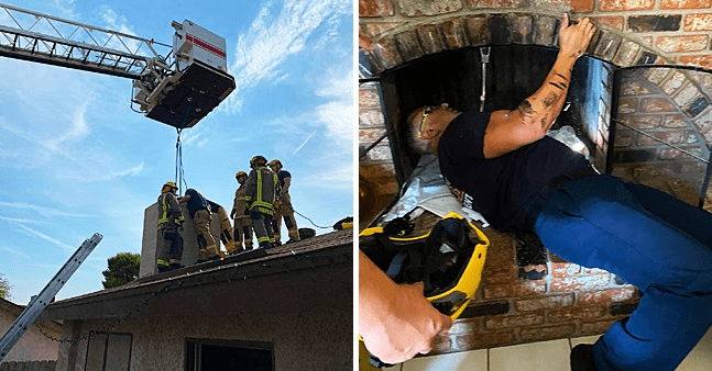 Firefighters Rescue Teen from Chimney after an Unsuccessful Attempt to Enter a Locked House