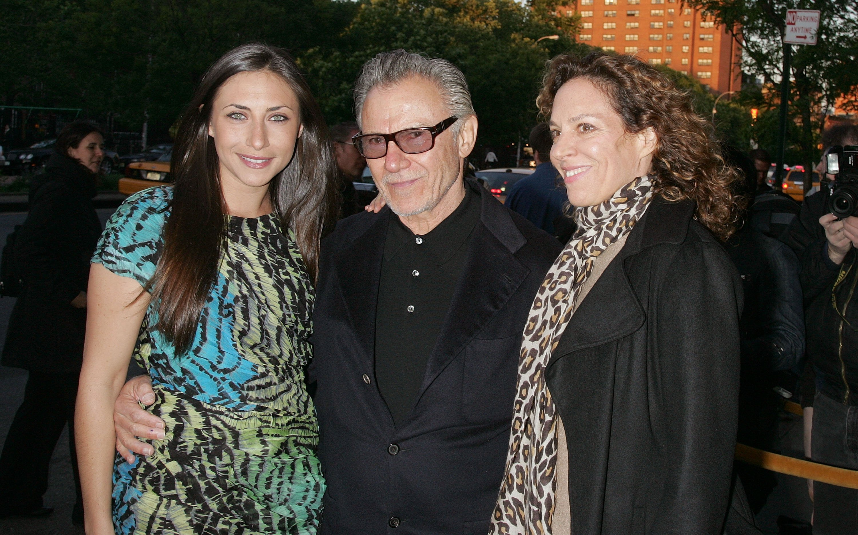 Harvey Keitel with daughter Stella Keitel (L) and Daphna Kastner attend the Holy Rollers premiere at Landmark's Sunshine Cinema on May 10, 2010 in New York City. | Photo: Getty Images