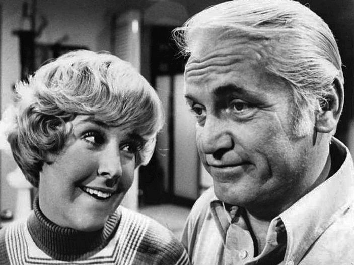 "Georgia Engel and Ted Knight from ""The Mary Tyler Moore Show."" 