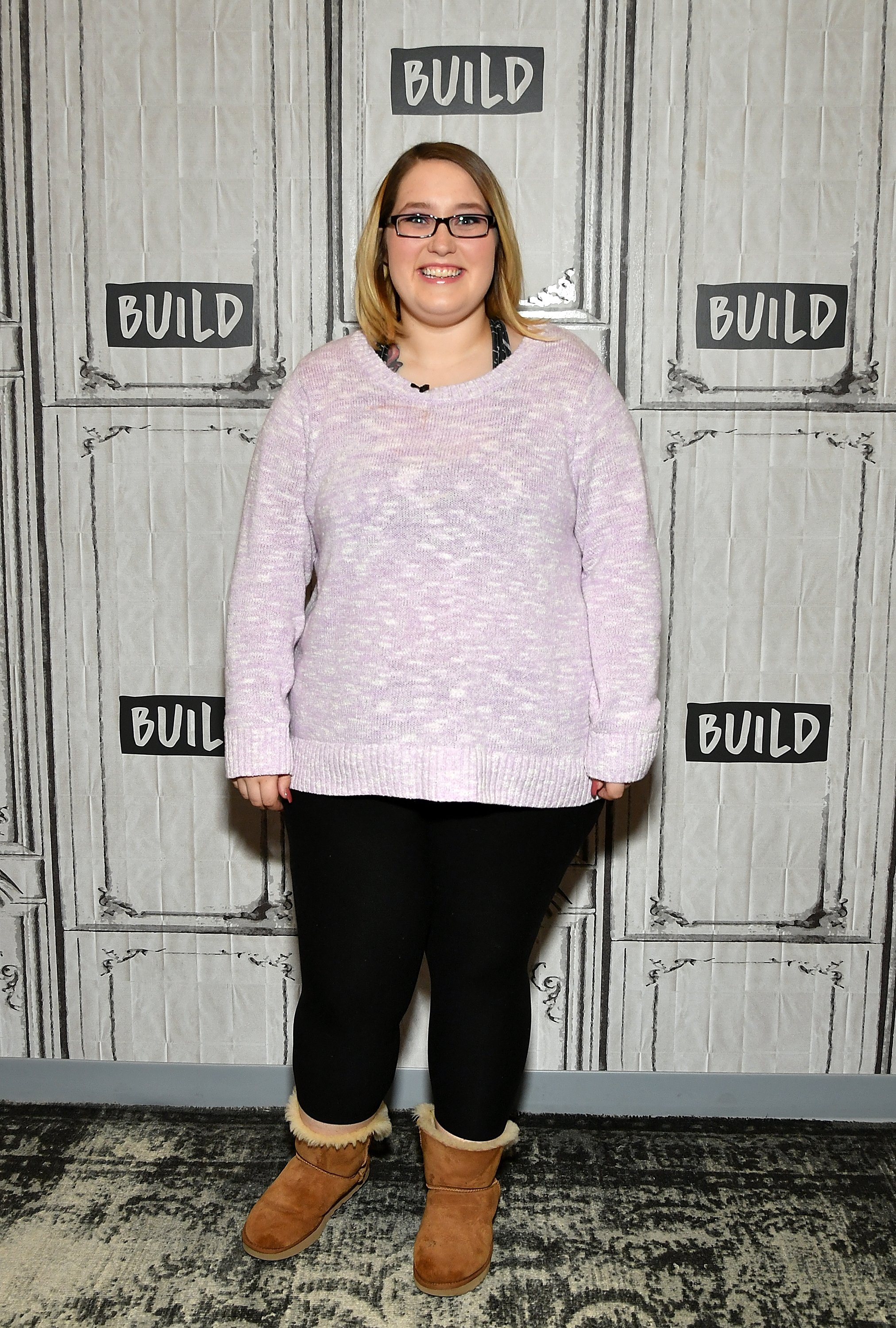 """Lauryn Shannon looking happy at a """"Build Brunch"""" event in New York on March 14, 2019. 