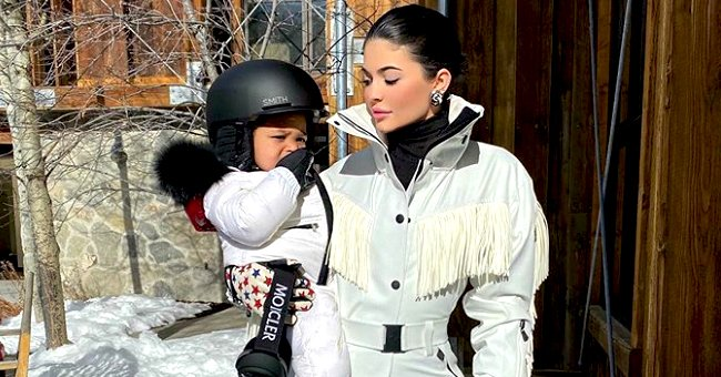 Kylie Jenner's Daughter Stormi Shows off Her Snowboarding Skills in Clips from Their Trip to Utah