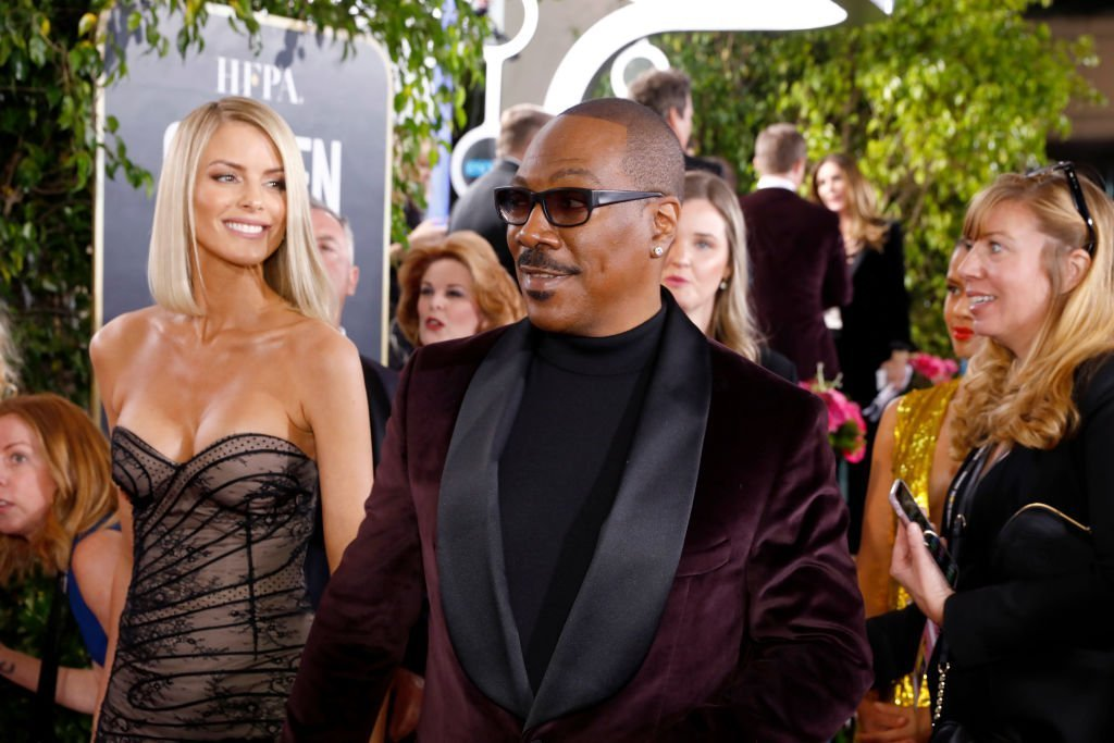 Eddie Murphy and his fiancee, Paige Butcher at the Golden Globes red carpet on January 5, 2020. | Photo: Getty Images