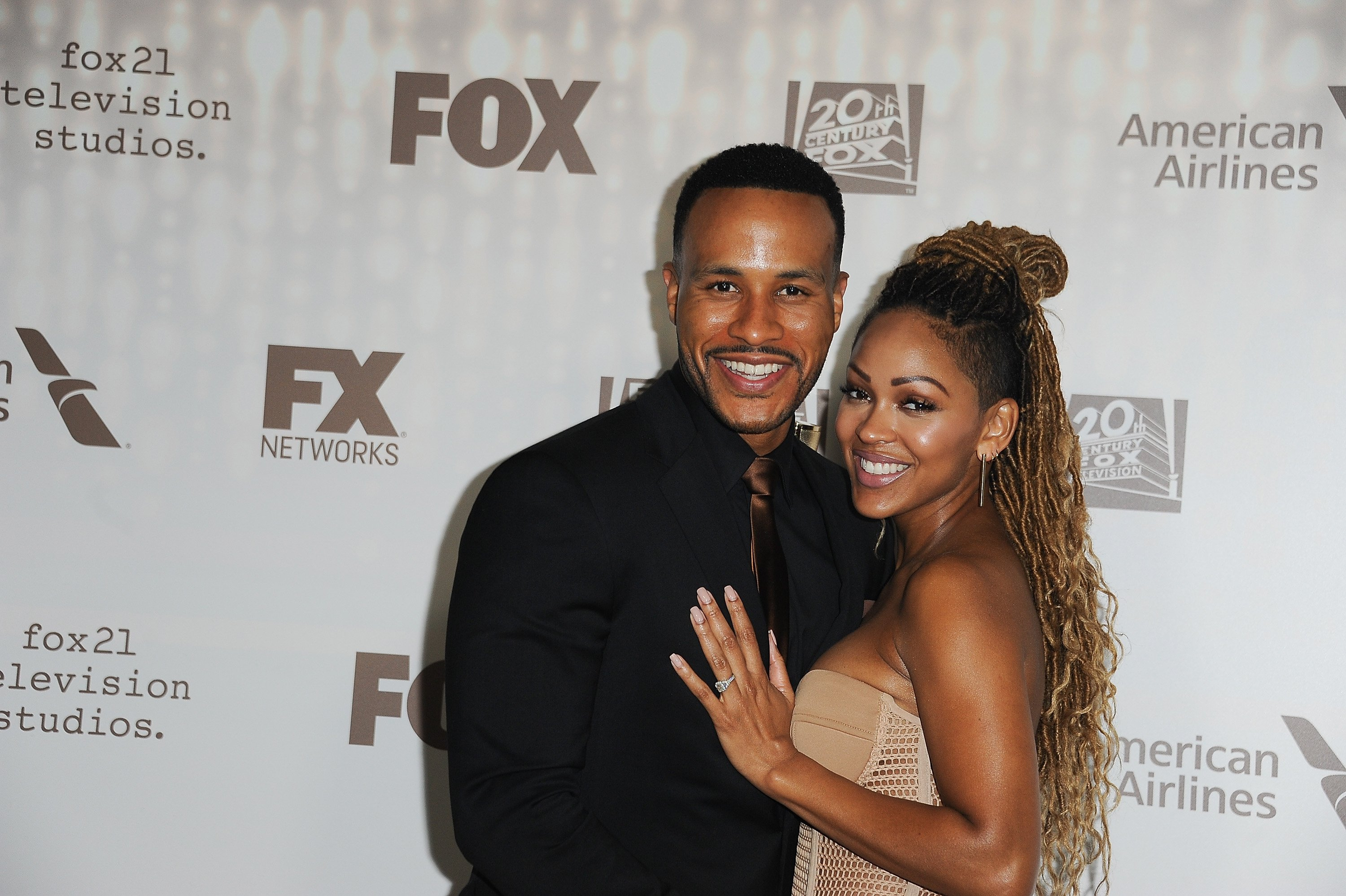 DeVon Franklin and Meagan Good at the 2017 Golden Globe Awards after-party on January 8, 2017 | Source: Getty Images/GlobalImagesUkraine