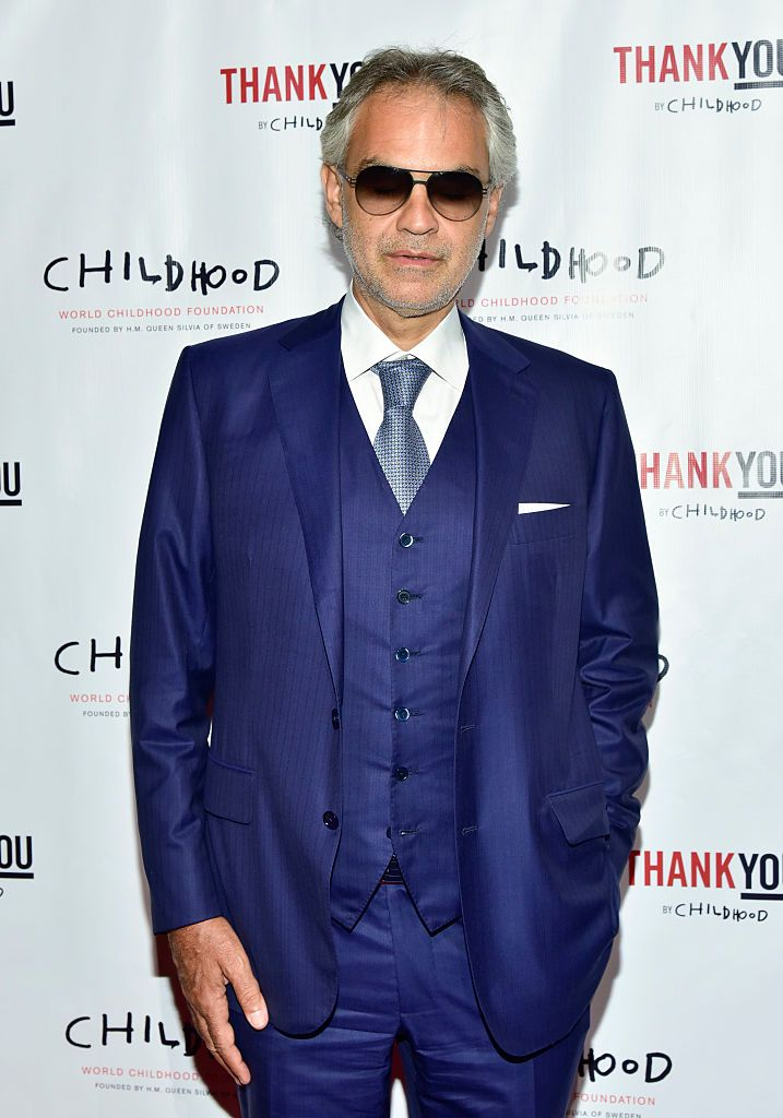 Andrea Bocelli at the World Childhood Foundation USA Thank You Gala on September 16, 2016 | Photo: Getty Images