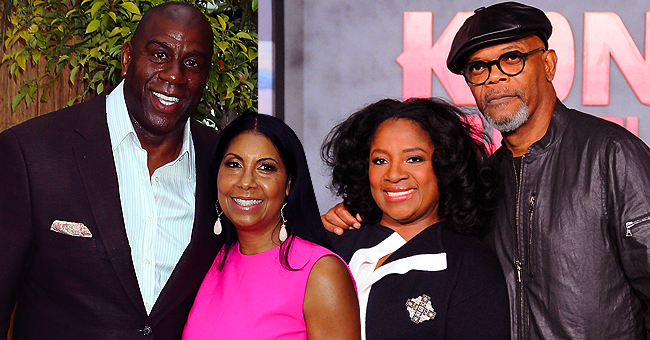 Magic Johnson & Wife Cookie Dress to Impress as They Attend Samuel L Jackson's Wife's 70th Birthday Bash