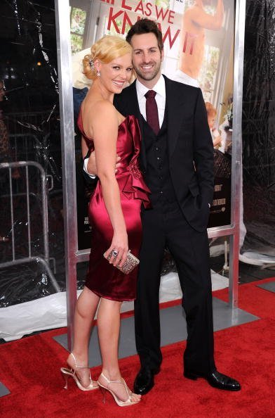 "Actress Katherine Heigl and musician Josh Kelley attend the ""Life As We Know It"" premiere at the Ziegfeld Theatre on September 30, 2010, in New York City. 