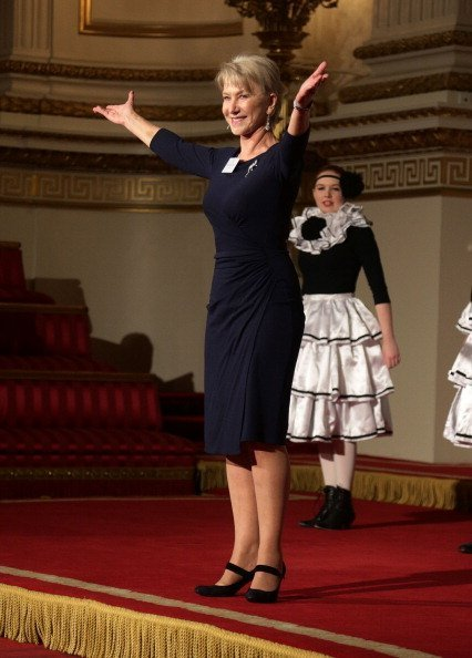 Helen Mirren delivers a speech from Shakespeare's The Tempest during the Dramatic Arts reception in the Ballroom of the Buckingham Palace | Photo: Getty Images