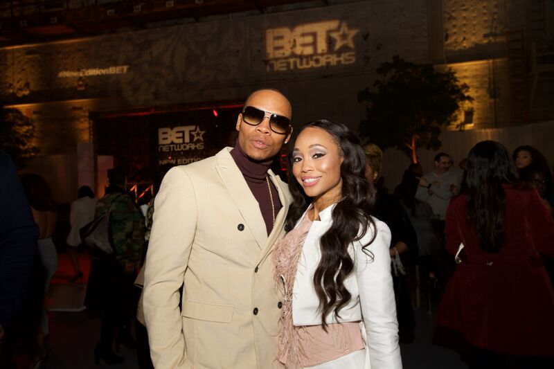 """Ronnie and Shamari DeVoe attending the BET Network's """"New Edition"""" event 