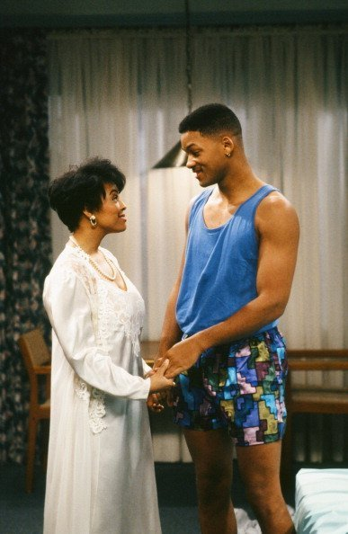 """Kim Fields as Monique, Will Smith as William 'Will' Smith on """"Fresh Prince of Bel-Air"""" 