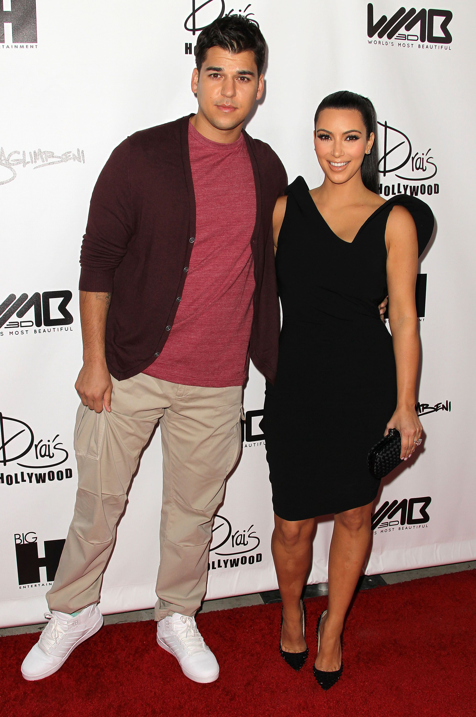 Rob Kardashian and Kim Kardashian during the World's Most Beautiful Magazine launch event at Drai's Hollywood on August 10, 2011 in Hollywood, California. | Source: Getty Images