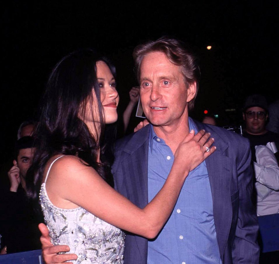 Michael Douglas And Catherine Zeta-Jones Leaving Their Joint Birthday Party At 4 Am amidst rumors of engagement | Photo: Getty Images
