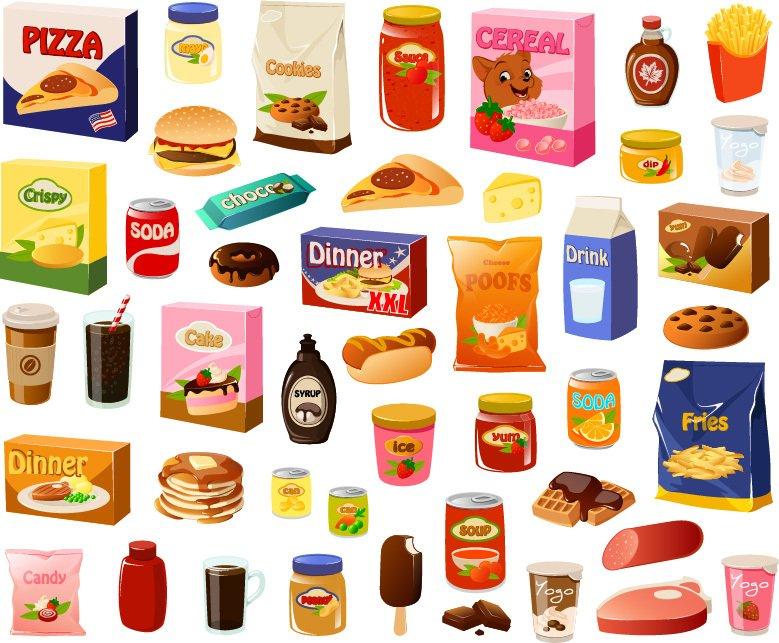 Une variété d'aliments transformés.   Shutterstock