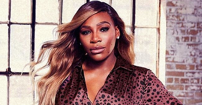 Serena Williams Models a Gorgeous Cheetah-Printed Silk Dress from Her Own Clothing Line