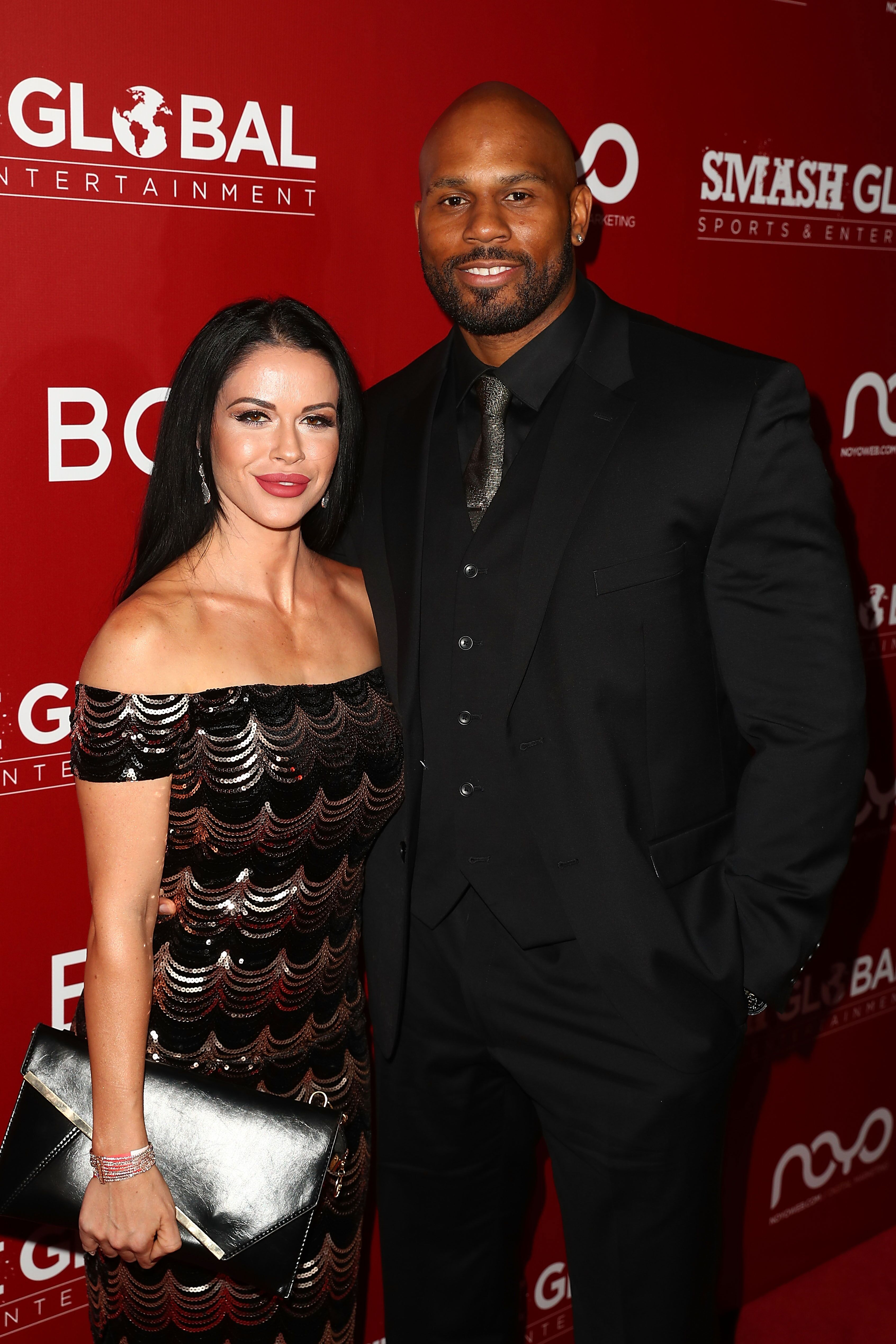 Shad Gaspard and his wifeSiliana Gaspard arrive on the red carpet at theSMASH Global Night Of Champions on December 13, 2018, in Hollywood, California | Source: Joe Scarnici/Getty Images