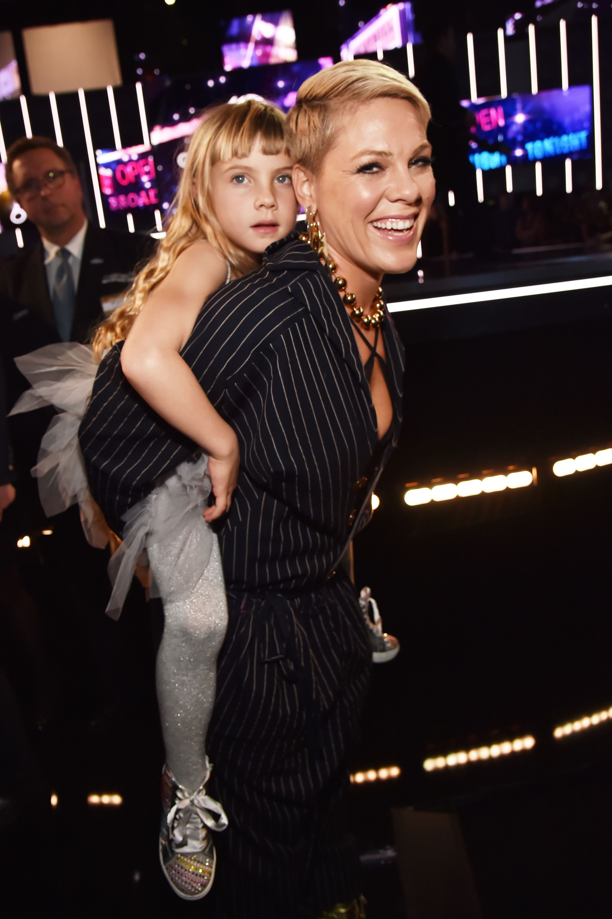 Pink and her daughter Willow Hart at the 60th Annual GRAMMY Awards in 2018 in New York City | Source: Getty Images