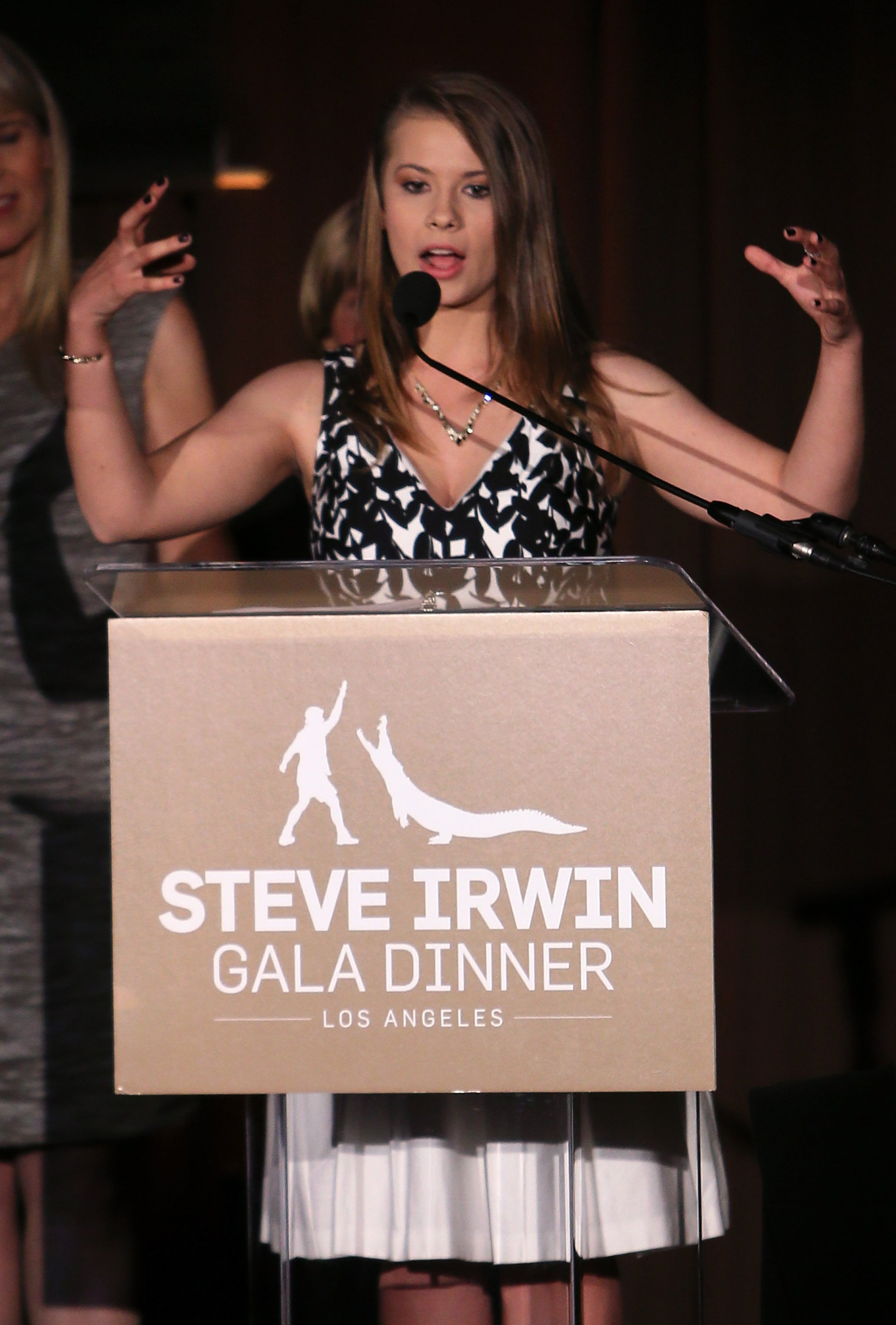 Bindi Irwin attends the Steve Irwin Gala Dinner at JW Marriott Los Angeles at L.A. LIVE on May 21, 2016   Photo: Getty Images