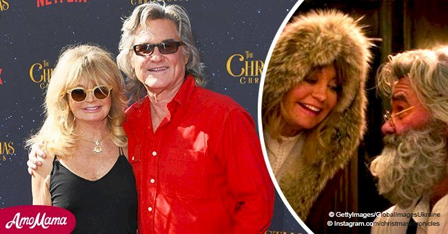 Goldie Hawn and Kurt Russell look lovely on a walk together after 'Christmas Chronicles' release