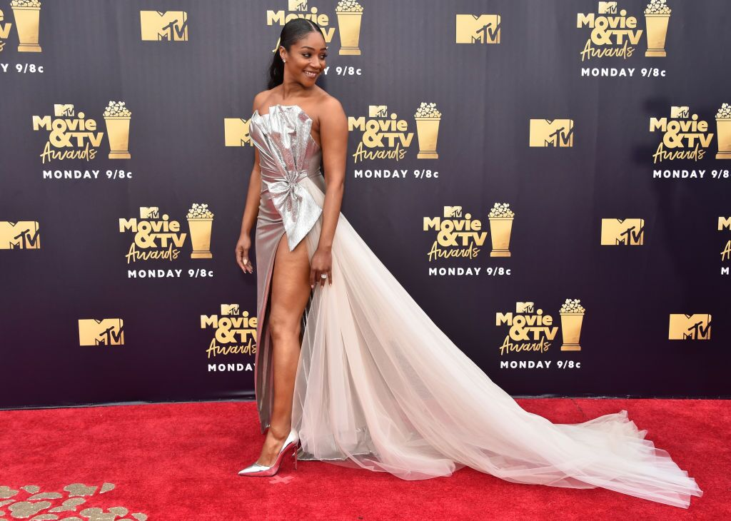 Tiffany Haddish in her formal gown at the MTV Movie & TV Awards | Photo: Getty Images