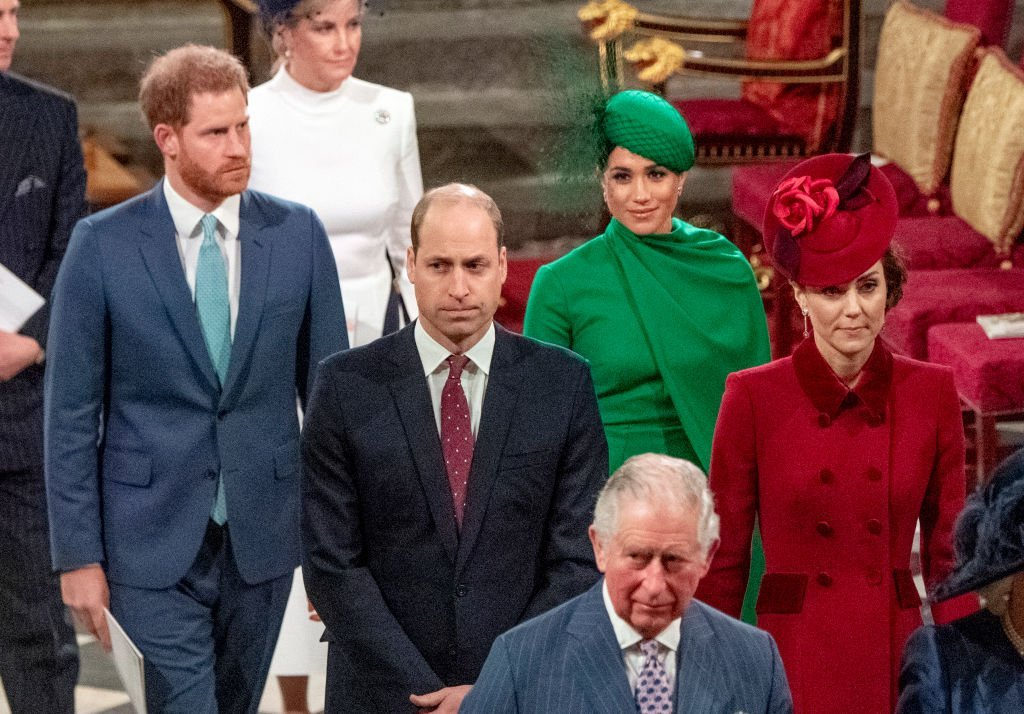 Prince Harry, Duke of Sussex, Meghan, Duchess of Sussex, Prince William, Duke of Cambridge, Catherine, Duchess of Cambridge and Prince Charles, Prince of Wales attend the Commonwealth Day Service 2020 on March 9, 2020 in London, England. | Photo: Getty Images