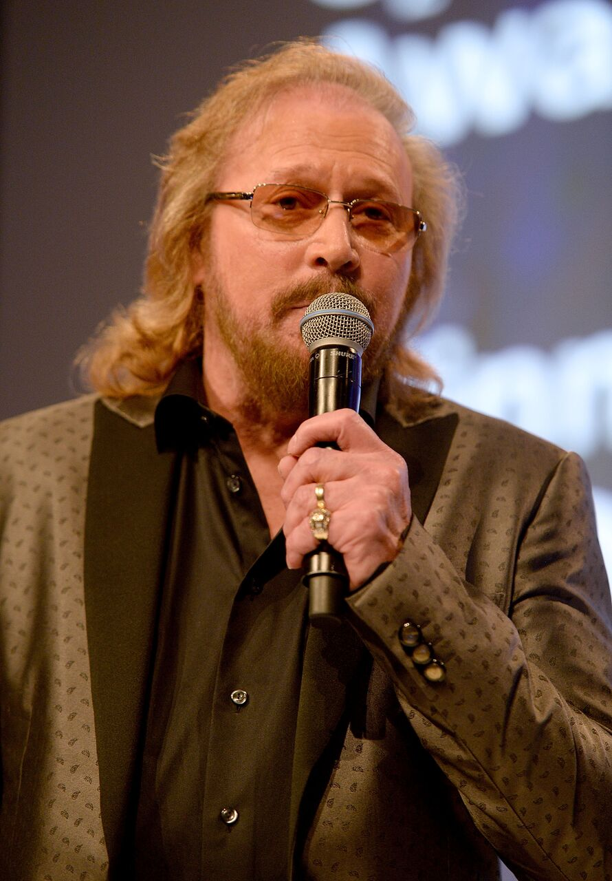 Barry Gibb on stage during the Nordoff Robbins O2 Silver Clef Awards on July 1, 2016 in London, United Kingdom.   Source: Getty Images